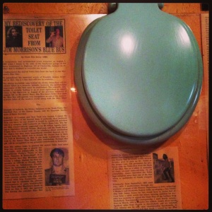 Jim Morrison's toilet seat at New Albanian Brewing
