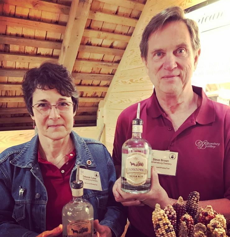 Deborah Collier & Steve Brown of Williamsburg Distillery