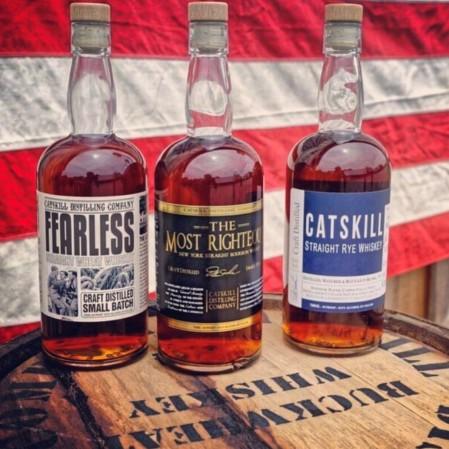 Catskill Distilling Co. whiskey display